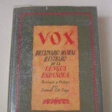 Diccionarios de segunda mano: DICCIONARIO MANUAL ILUSTRADO DE LA LENGUA ESPAÑOLA (VOX) ED. BIBLOGRAF (1964). Lote 26536001