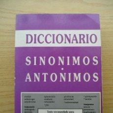 Diccionarios de segunda mano: DICCIONARIO SINONIMOS ANTONIMOS. Lote 22291303