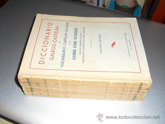 DICCIONARIO GALEGO-CASTELAN E VOCABULARIO CASTELAN GALEGO LEANDRO CARRE 3ª EDICION (Libros de Segunda Mano - Diccionarios)