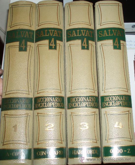 DICCIONARIO ENCICLOPEDICO SALVAT 4 TOMOS (Libros de Segunda Mano - Diccionarios)
