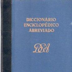 Diccionarios de segunda mano: DICCIONARIO ENCICLOPEDICO ABREVIADO. TOMO I A, BEKKER. ESPASA - CALPE, S.A.. Lote 20333926