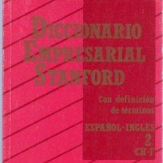 Diccionarios de segunda mano: DICCIONARIO EMPRESARIAL STANFORD. ESPAÑOL-INGLES. GRUPO TABACALERA. 1990. 21 X 13,5 CM. 237 PAG.. Lote 20820236