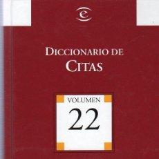 Diccionarios de segunda mano: DICCIONARIO DE CITAS. BIBLIOTECA EL MUNDO. 22 X 14 CM. VOLUMEN 22.. Lote 20821322