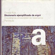 Diccionarios de segunda mano: DICCIONARIO EJEMPLIFICADO DE ARGOT. CIRIACO RUIZ.. Lote 23690982