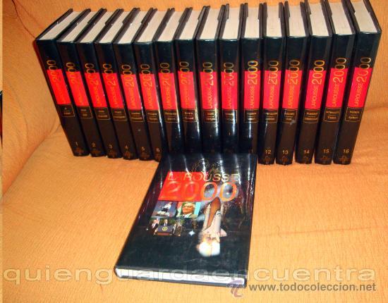 DICCIONARIO ENCICLOPÉDICO LAROUSSE 2000 PLANETA 16 TOMOS APÉNDICE 1999, DISCOS COMPACTOS (Libros de Segunda Mano - Diccionarios)
