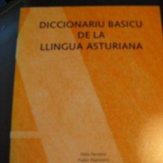 Diccionarios de segunda mano: DICCIONARIU BASICU DE LA LLINGUA ASTURIANA. Lote 27444910