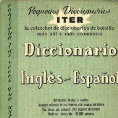 Diccionarios de segunda mano: DICCIONARIO INGLÉS-ESPAÑOL SOPENA - 1964. Lote 27013021