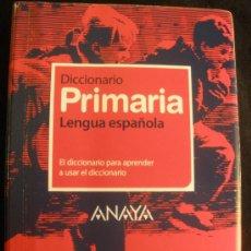 Diccionarios de segunda mano: DICCIONARIO PRIMARA LENGUA ESPAÑOLA. ANAYA VOX. NUEVO. 2008 1083 PAG. Lote 26993507