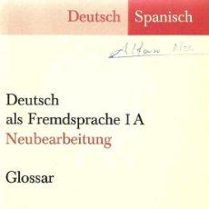 Diccionarios de segunda mano: GLOSARIO ALEMÁN – ESPAÑOL . GLOSSAR DEUTSCH –SPANISCH - 1978. Lote 27157693