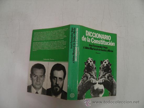 DICCIONARIO DE LA CONSTITUCIÓN PLANETA,1983, AB36181. (Libros de Segunda Mano - Diccionarios)