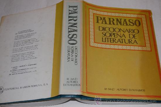 PARNASO. DICCIONARIO SOPENA DE LITERATURA TOMO III (M-Z) AUTORES EXTRANJEROS MAURO ARMIÑO.RM34036 (Libros de Segunda Mano - Diccionarios)