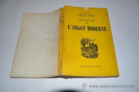 DICTIONNAIRE DE L´ARGOT MODERNE GÉO SANDRY, MARCEL CARRÈRE RM10282 (Libros de Segunda Mano - Diccionarios)