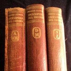 Diccionarios de segunda mano: ENCICLOPEDIA DEL IDIOMA. 3 TOMOS. ED. AGUILAR. 1958. Lote 32148532