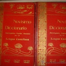 Diccionarios de segunda mano: NOVISIMO DICCIONARIO ENCLOPEDICO POPULAR ILUSTRADO DE LA LENGUA ESPAÑOLA TOMO 1 Y 2 / . Lote 32544771