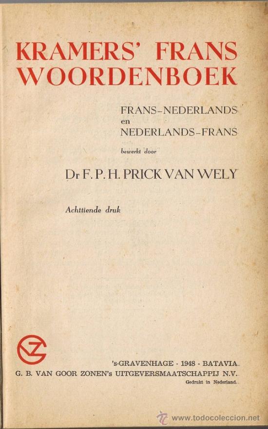 DICCIONARIO FRANCÉS-HOLANDÉS - HOLANDÉS-FRANCÉS - 1948 (Libros de Segunda Mano - Diccionarios)