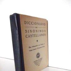 Diccionarios de segunda mano: DICCIONARIO DE SINONIMOS CASTELLANOS---EDITORIAL PAX-MEXICO--1944. Lote 33574158