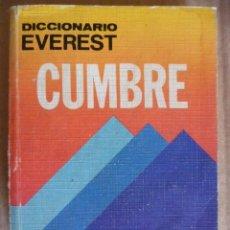 Diccionarios de segunda mano: DICCIONARIO EVEREST CUMBRE -ESPAÑOL 1986 - 671 PAG.. Lote 33674915