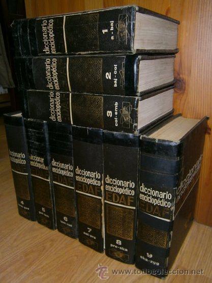 DICCIONARIO ENCICLOPÉDICO 9T (COMPLETO) POR VARIOS AUTORES DE EDAF EN MADRID 1970 (Libros de Segunda Mano - Diccionarios)