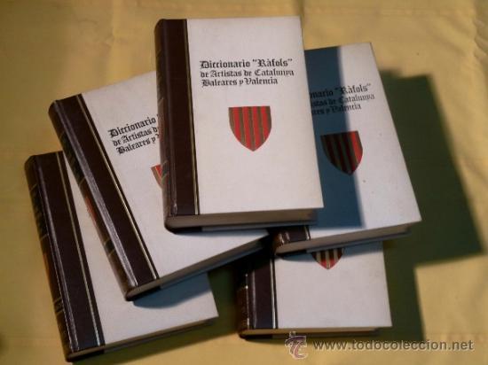 Diccionarios de segunda mano: Diccionario rafols de artistas catalanes,valencianos y de baleares.5 tomos. - Foto 2 - 183636002