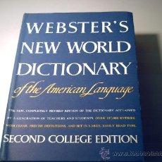 Diccionarios de segunda mano: WEBSTER'S NEW WORLD DICTIONARY OF THE AMERICAN LANGUAGE - SECOND COLLEGE EDITION. Lote 34798151