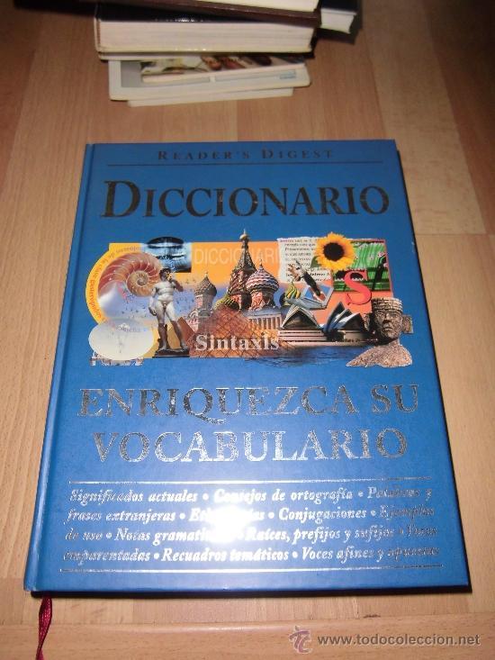 DICCIONARIO ENRIQUEZCA SU VOCABULARIO READER`S DIGEST MEXICO 2002 (Libros de Segunda Mano - Diccionarios)