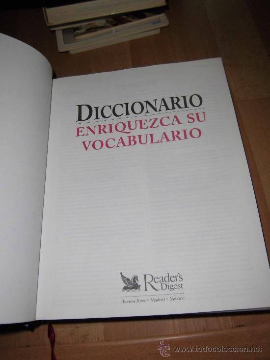 Diccionarios de segunda mano: DICCIONARIO ENRIQUEZCA SU VOCABULARIO READER`S DIGEST MEXICO 2002 - Foto 2 - 35541026