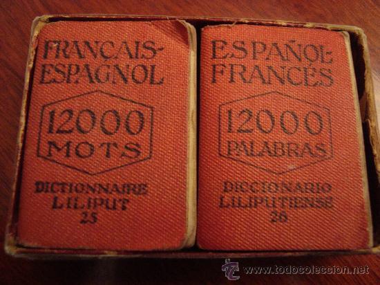 (547) DICCIONARIO LILIPUTIENSE ESPAÑOL-FRANCES FRANÇAIS-ESPAGNOL - 2 TOMOS (Libros de Segunda Mano - Diccionarios)