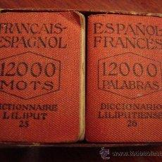 Diccionarios de segunda mano: (547) DICCIONARIO LILIPUTIENSE ESPAÑOL-FRANCES FRANÇAIS-ESPAGNOL - 2 TOMOS. Lote 35553322