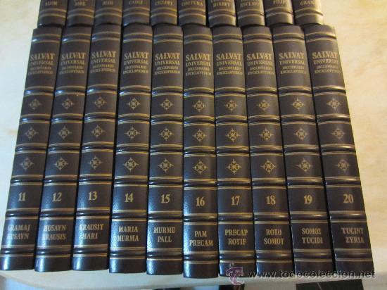 SALVAT UNIVERSAL DICCIONARIO ENCICLOPÉDICO COMPLETO 20 TOMOS (Libros de Segunda Mano - Diccionarios)