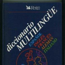 Livros em segunda mão: DICCIONARIO MULTILINGÜE. READERS DIGEST.. Lote 36163123