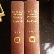 Diccionarios de segunda mano: THE OXFORD UNIVERSAL DICTIONARY ILUSTGRATED. ED. CAXTON 2 TOMOS 1966 1306 1249 PAG. Lote 36243048