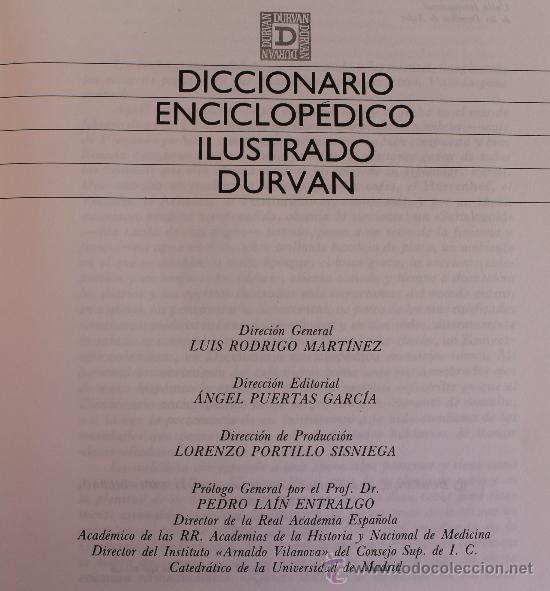 Diccionarios de segunda mano: DICCIONARIO ENCICLOPEDICO ILUSTRADO DURVAN – COMPLETO: 11 TOMOS PRECIOSA ENCUADERNACION COMO NUEVOS - Foto 2 - 36754553