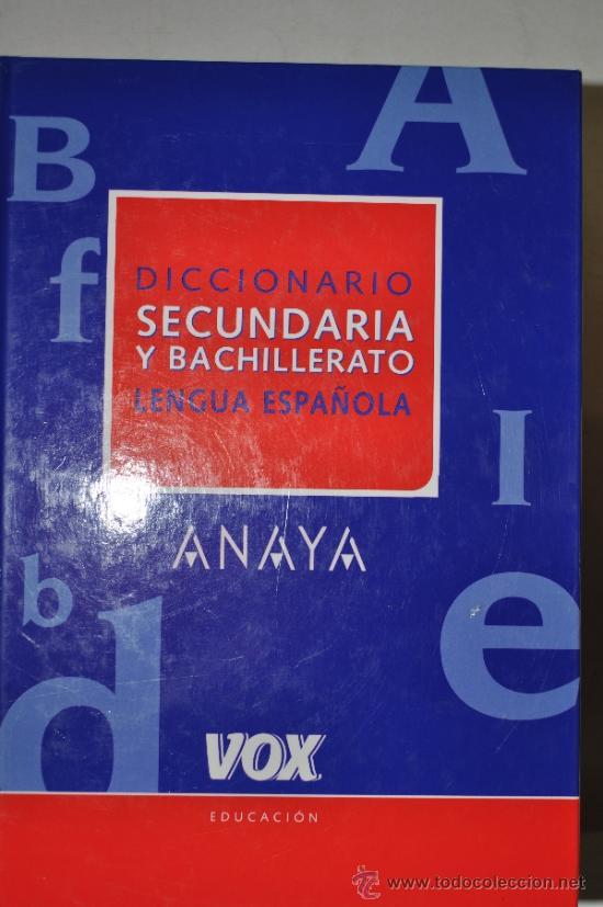 DICCIONARIO DE SECUNDARIA Y BACHILLERATO DE LA LENGUA ESPAÑOLA. RM61757 (Libros de Segunda Mano - Diccionarios)