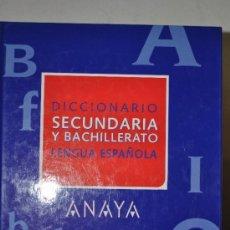 Diccionarios de segunda mano: DICCIONARIO DE SECUNDARIA Y BACHILLERATO DE LA LENGUA ESPAÑOLA. RM61757. Lote 37067644