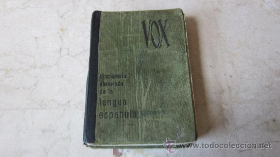 DICCIONARIO ABREVIADO DE LA LENGUA ESPAÑOLA - VOX 1967 (Libros de Segunda Mano - Diccionarios)