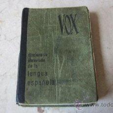 Diccionarios de segunda mano: DICCIONARIO ABREVIADO DE LA LENGUA ESPAÑOLA - VOX 1967. Lote 37642381