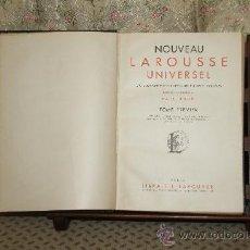 Diccionarios de segunda mano: 3412- NOUVEAU LAROUSSE UNIVERSEL. PAUL AUGE. EDIT. LAROUSSE. 1948. TOMO I.. Lote 37683778