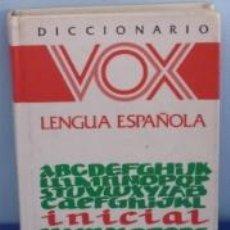 Diccionarios de segunda mano: DICCIONARIO VOX. LENGUA ESPAÑOLA INICIAL. PERIODO ESCOLAR. CURIOSIDAD. Lote 38718310