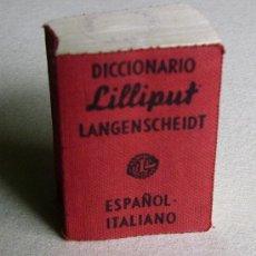 Diccionarios de segunda mano: DICCIONARIO LILLIPUT LANGENSCHEIDT ESPAÑOL - ITALIANO. Lote 38998752