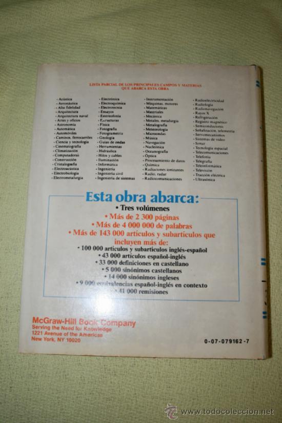 Diccionarios de segunda mano: Diccionario enciclopédico de términos técnicos inglés-español español/inglés. Collazo. McGraw-Hill. - Foto 8 - 39030206