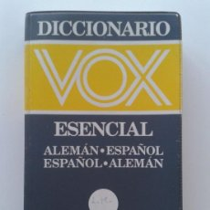 Diccionarios de segunda mano: DICCIONARIO VOX ESENCIAL ALEMAN - ESPAÑOL / ESPAÑOL-ALEMAN. Lote 39208031