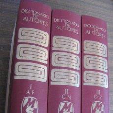 Diccionarios de segunda mano: DICCIONARIO DE AUTORES (3 TOMOS COMPLETO) - GONZALO PORTO BOMPIANI - MONTANER Y SIMON 1973. Lote 39453152