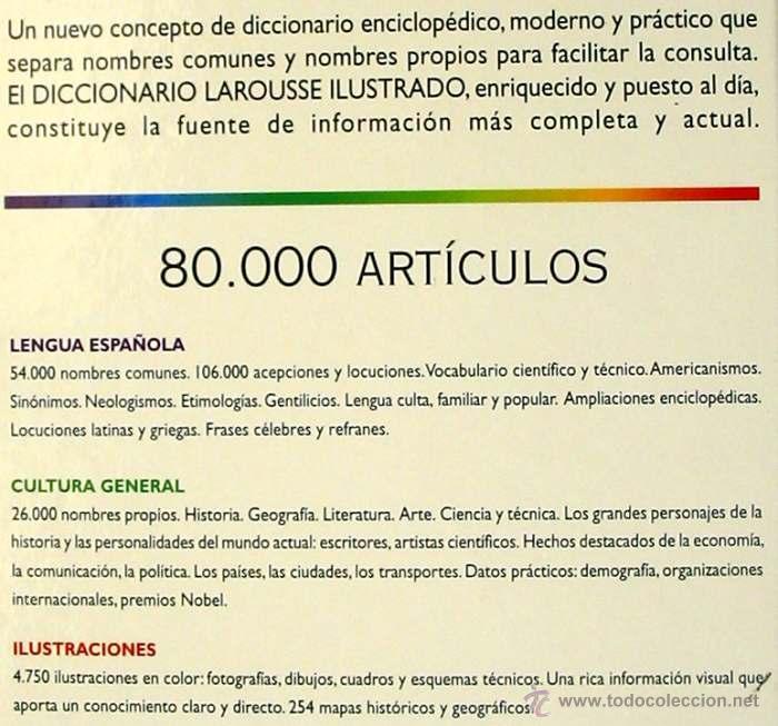 Diccionarios de segunda mano: DICCIONARIO ENCICLOPEDICO LAROUSSE ILUSTRADO - 6 TOMOS COMPLETO - 1998 - VER DESCRIPCIÓN - Foto 3 - 39649501