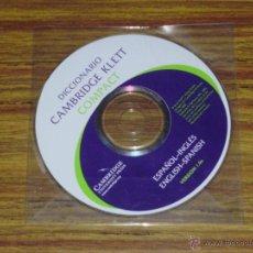 Diccionarios de segunda mano: DICCIONARIO CAMBRIDGE KLETT COMPACT ESPAÑOL-INGLÉS/ENGLISH-SPANISH [CD ROM]. Lote 40658320
