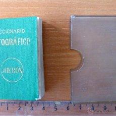 Diccionarios de segunda mano: DICCIONARIO ORTOGRÁFICO MIKRÓN. 1959. Lote 41233027