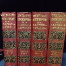 Diccionarios de segunda mano: DICCIONARI ENCICLOPEDIC DE LA LLENGUA CATALANA.SALVAT EDITORES S.A. ANY 1932.COMPLET 4 TOMS.. Lote 41243891