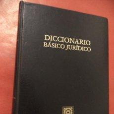 Diccionarios de segunda mano: DICCIONARIO BÁSICO JURÍDICO. EDITORIAL COMARES. GRANADA. 1986.. Lote 41257423