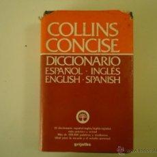 Diccionarios de segunda mano: DICCIONARIO ESPAÑOL Y INGLES - COLLINS CONCISE. Lote 41329032