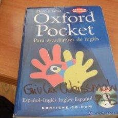 Diccionarios de segunda mano: DICCIONARIO OXFORD POCKET PARA ESTUDIANTES (LB5). Lote 184434588