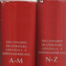 Diccionarios de segunda mano: DICCIONARIO DE LITERATURA ESPAÑOLA E HISPANOAMERICANA. RICARDO GULLÓN. 2 TOMOS. MADRID. 1993.. Lote 47981813